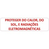 "VM-031 Etiq. Farm 10x38mm ""Proteger do calor,do sol..."""